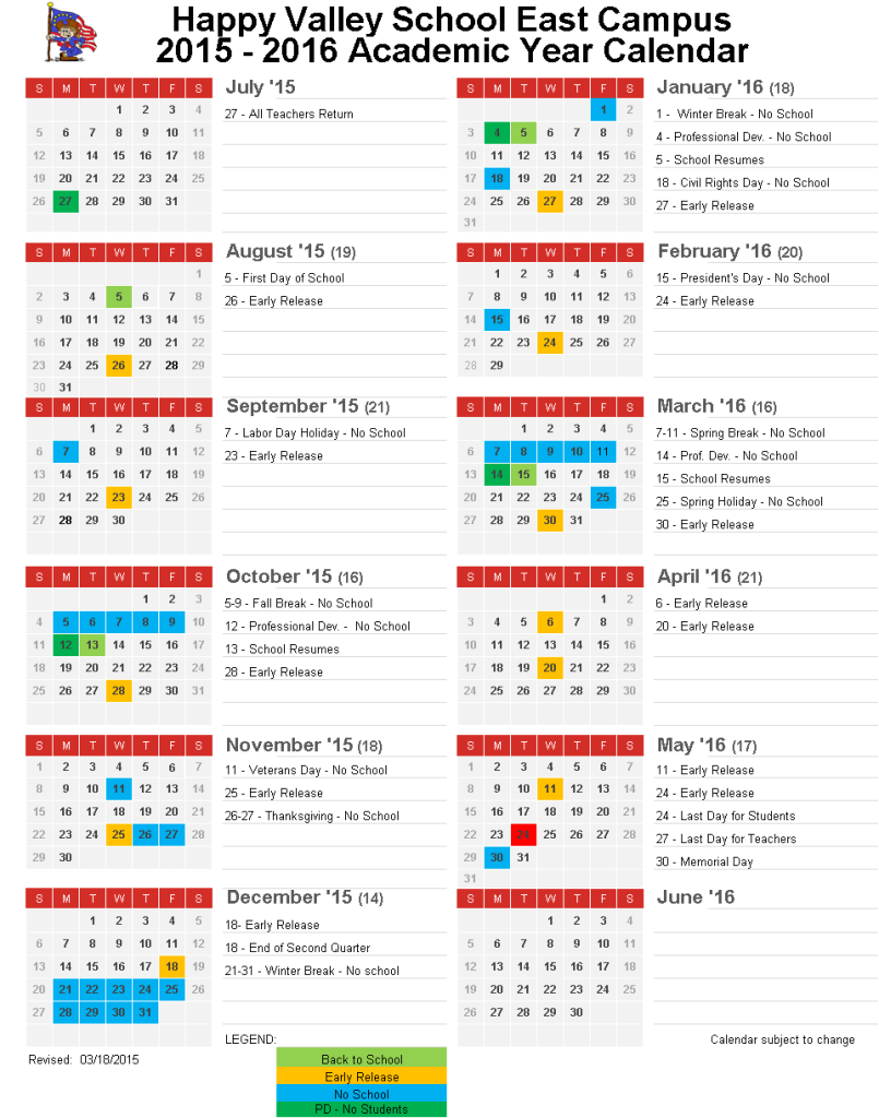 Jmu Spring 2016 Calendar | Calendar Template 2016