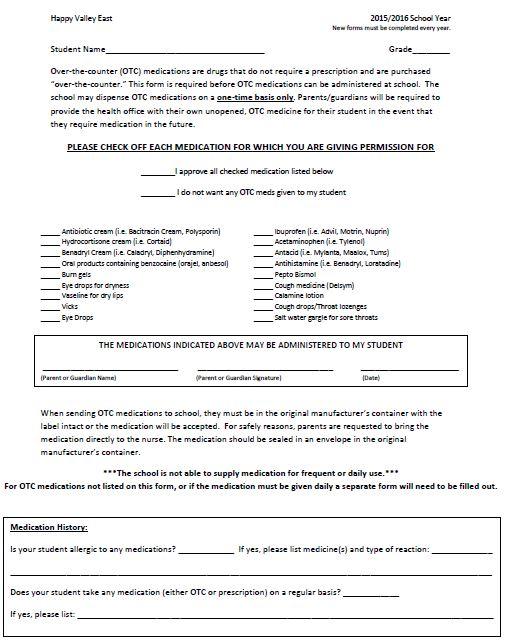 OTC Consent form